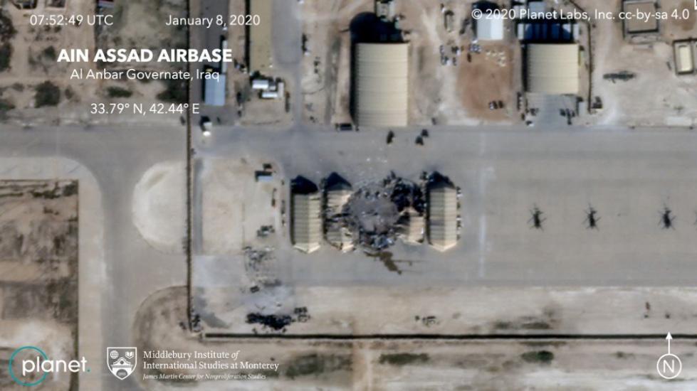 美媒公布美军基地遭袭后卫星图:被多发导弹直接命中!